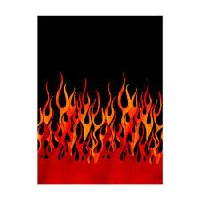 Home Decor Print Fabric Michael Miller Flames Single Border Black Discount Designer
