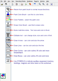 notes coloring and drawing tools