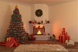 merry xmas eve fireplace photography background decorated