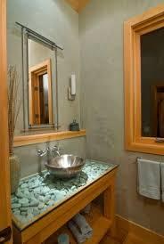 river rock bathroom ideas cool mirror look bathroom vanity with river rocks