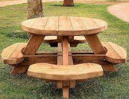 stylish octagon picnic table for outdoor area the new way home
