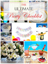 ultimate party check list