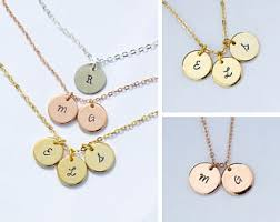 necklaces with initials initial necklaces etsy