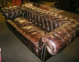 large chesterfield sofa tennants auctioneers a large modern brown leather chesterfield