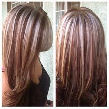 blonde and red highlights on brown hair brown hairs