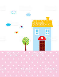 wallpaper cute house beautiful cute house wallpaper vector stock vector art more images