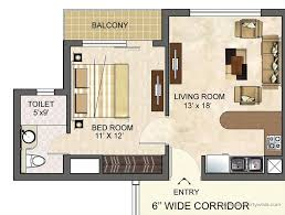 Home Design 650 Sq Ft 2 Bedroom Flat Design Plans Apartment Floor Small One House Indian
