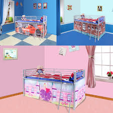 FoxHunter Childrens Metal Mid Sleeper Cabin Bunk Bed Kids Tent - Ebay bunk beds for kids