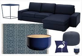 canapé bleu marine une touche de bleu marine dans la déco salons living rooms and room