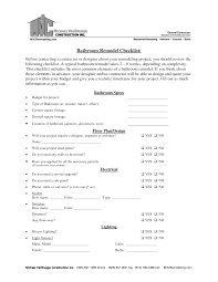 Questionnaire For Home Design by Interior Design Checklist Besides New Home Design Checklist