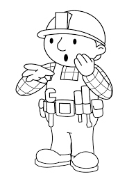 bob the builder shocked coloring page for kids kids coloring