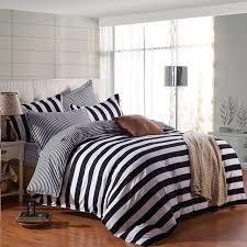 White Stripe Duvet Cover Black And White Striped Duvet Cover