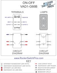 illuminated rocker switch wiring diagram dolgular com