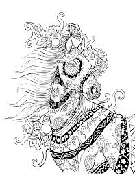 Halloween Themed Coloring Pages by Horse Coloring Page Selah Works Colouring Animals