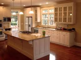 Cream Kitchen Cabinets With Blue Walls Cabinet Kitchen Natural Wood Childcarepartnerships Org