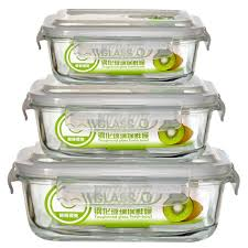 Food Storage Glass Containers 3 Size 1pcs High Quality Tempered Glass Food Container Transparent