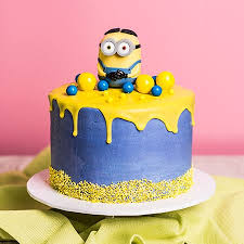 minion birthday cakes minion drip cake