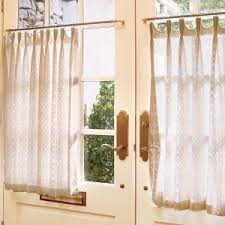 Linen Cafe Curtains Home Decor Kitchen Curtains White Linen Cafe Curtain