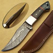 knife store hand made by alonzo gil custom damascus hunting knife