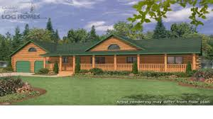 ranch homes floor plans ranch style log home with wrap around porch