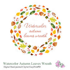 halloween wreath transparent background digital clipart watercolor clip art fall clipart watercolor