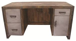 reclaimed wood and metal desk desks and hutches by moti