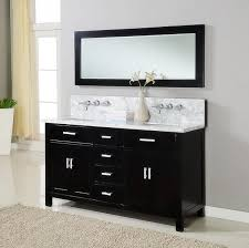bathroom rectangle black wooden small double sink vanity with