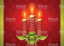 realistic christmas candle vector stock vector art 494423454 istock