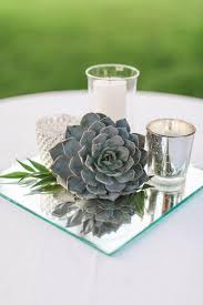 wedding centerpiece ideas picture of vintage mirror wedding centerpiece idea with candle