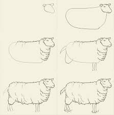 how to draw sheep drawing and digital painting tutorials online
