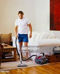 Vaccumming Man Vacuuming Stock Photo Getty Images