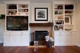 S And W Cabinets Wall Units Awesome Built In Bookshelves Around Tv Charming Built