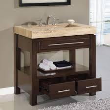 Built In Bathroom Vanity Charming Single Sink Bathroom Cabinet Using Cream Granite Worktops