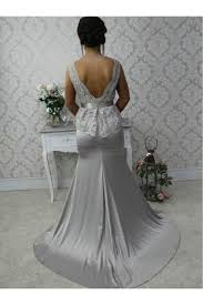 silver dresses for a wedding silver mermaid lace wedding guest dresses bridesmaid dresses 3010251
