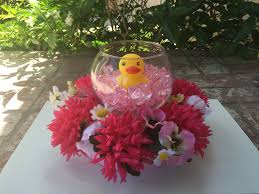 floral centerpieces duck floral centerpiece baby shower