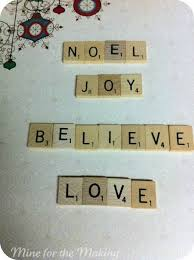 scrabble letter ornaments pictured tutorial