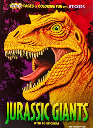 jurassic giants coloring activity book the dinosaur farm