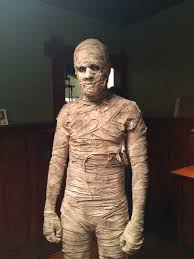 mummy costume made by amanda hosler and makeup and prosthetic work
