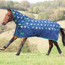 shires tempest original 200g combo turnout rug chicken print