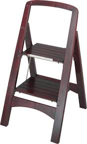 Fold Up Step Ladder by Cosco Products Cosco Two Step Rockford Wood Step Stool
