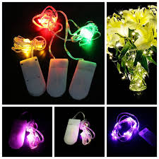 20 led micro lights battery operated 10pcs lot cr2032 button battery operated 2m 20 micro led string