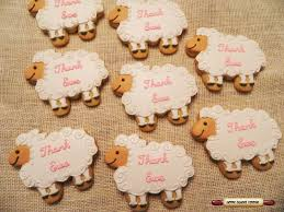 Lamb Baby Shower Favors Home Sweet Cookie Lamb Baby Shower Cookies