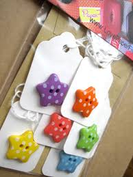 brilliant design of quick craft ideas made of button in star shape