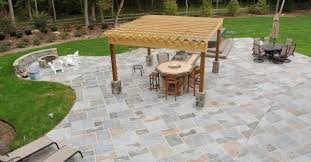 Kitchen Island Kits Extraordinary Pavers Over Cement Patio On Random Paving Pattern