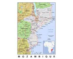 France Political Map by Maps Of Mozambique Detailed Map Of Mozambique In English