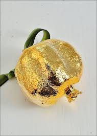 real pomegranate ornaments gold dipped pomegranate