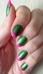 nails this week pink u0026 lime french tips nails for nickels