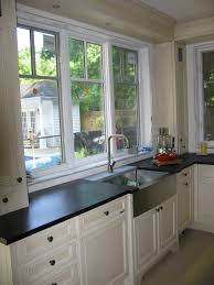 alluring kitchen sink bay window treatments reanimators picture