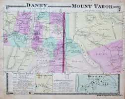 Vt Map Danby Mount Tabor Vt Vermont Sold Antique Maps And