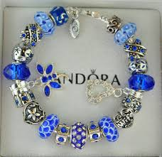pandora bracelet charms sterling silver images Authentic pandora sterling silver charm bracelet blue crystal jpg